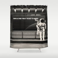 astronaut Shower Curtains featuring Astronaut by eARTh