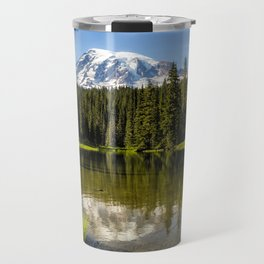 Mt Rainier from Reflection Lake, No. 3 Travel Mug
