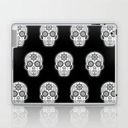 Día de Muertos Calavera • Mexican Sugar Skull – White on Black Palette Laptop & iPad Skin