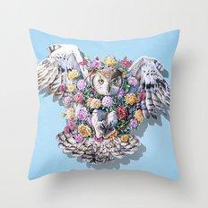 Birds in Bloom Throw Pillow