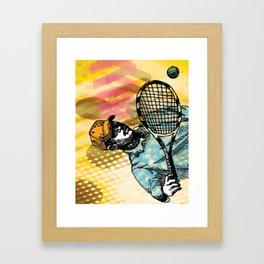 Tennis Backhand Framed Art Print