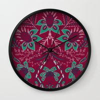 folk Wall Clocks featuring Folk by Laura Braisher