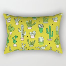 Botanical dessert cactus pattern Rectangular Pillow
