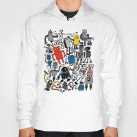 robots Hoodies featuring ROBOTS! by Chris Piascik