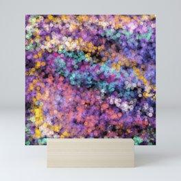 Modern abstract lavender teal watercolor bokeh Mini Art Print