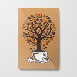 Coffee Tree Metal Print