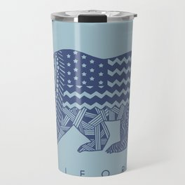 Blue California Travel Mug