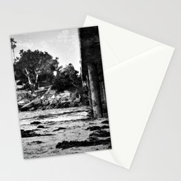 Bridge over the beach with texture Stationery Cards