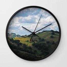 Mendocino hills Wall Clock