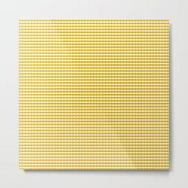 Mustard Gingham Metal Print