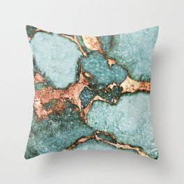 GEMSTONE & GOLD NEW MINT Throw Pillow