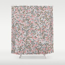 Playing cards swirl Shower Curtain