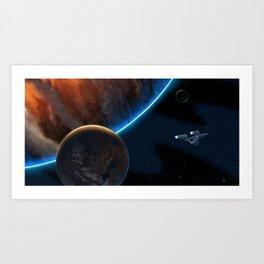 STAR TREK ANIMATED: Boldly Go! Art Print