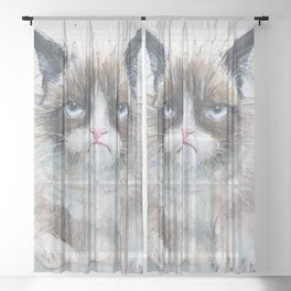 Angry Cat Sheer Curtain