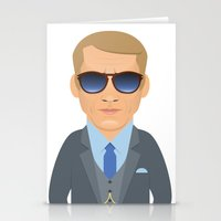 steve mcqueen Stationery Cards featuring Steve McQueen by Capitoni