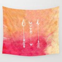 arrows Wall Tapestries featuring Arrows by katti