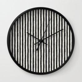 geo brush stripe vertical Wall Clock