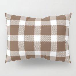 Plaid Coffee Brown Pillow Sham
