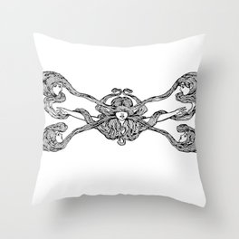 Hair Ladies Throw Pillow
