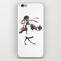 street fighter iPhone & iPod Skins featuring Ryu Street Fighter by Papan Seniman