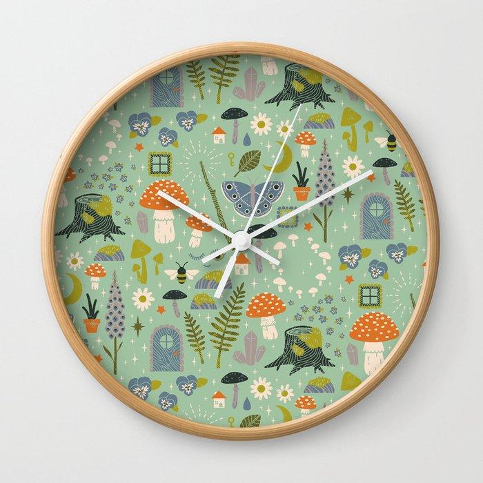 Fairy Garden Wall Clock