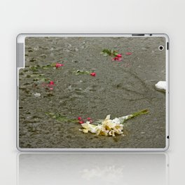 Flowers in a frozen pond Laptop & iPad Skin