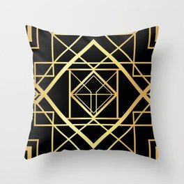 1920 Art deco Gatsby Style Throw Pillow