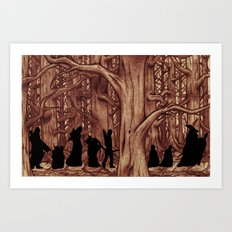On the way (The Fellowship of the Ring, LOTR) Version 2 Art Print