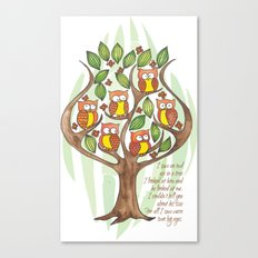 Owl Tree Canvas Print