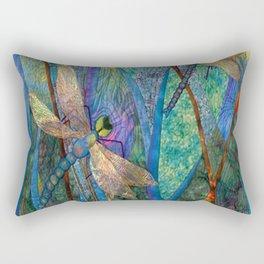Colorful Dragonflies Rectangular Pillow