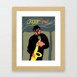 Jazz Sax Player Framed Art Print