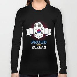 Football Korean Korea Soccer Team Sports Footballer Goalie Rugby Gift Long Sleeve T-shirt
