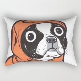 Boston Terrier Orange Hoodie Rectangular Pillow