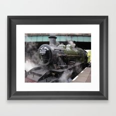 Vintage Steam Engine Framed Art Print