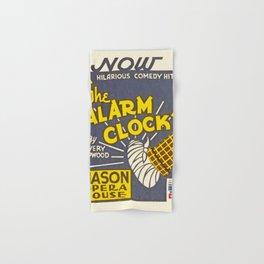 Vintage poster - The Alarm Clock Hand & Bath Towel