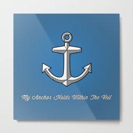 Anchors Aweigh (blue) Metal Print
