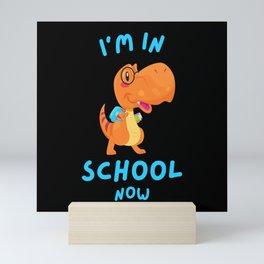 Schoolchildren Cute Dinosaur T-Rex School Start Mini Art Print