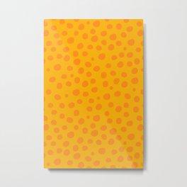 Orange Dots Metal Print