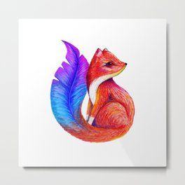 You're more beautiful than you know - Foxther Metal Print