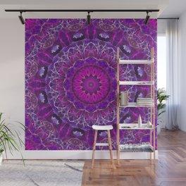 Pink and Purple Glowing Mandala Wall Mural