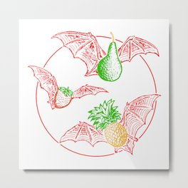 Fruit Bats Metal Print