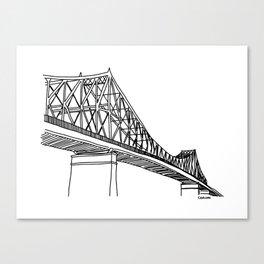 Montreal - Pont Jacques-C - Black Canvas Print