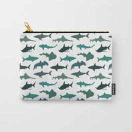 Green Sharks Carry-All Pouch