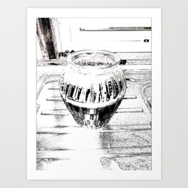 A Study in Black and White Art Print