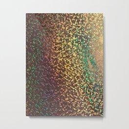 Multicolored and gold confetti Metal Print