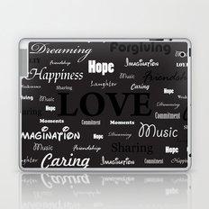 Love is like walking in the Dark Laptop & iPad Skin