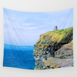 O'Brien's Tower on The Cliffs of Moher Wall Tapestry