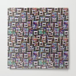 Colorful 3D Abstract Structure Metal Print
