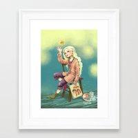 luna lovegood Framed Art Prints featuring Resting time by Morgane Velten