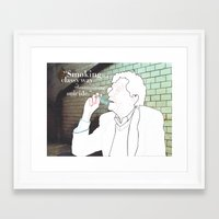 kurt vonnegut Framed Art Prints featuring Portrait Series - Kurt Vonnegut by Celia Chung